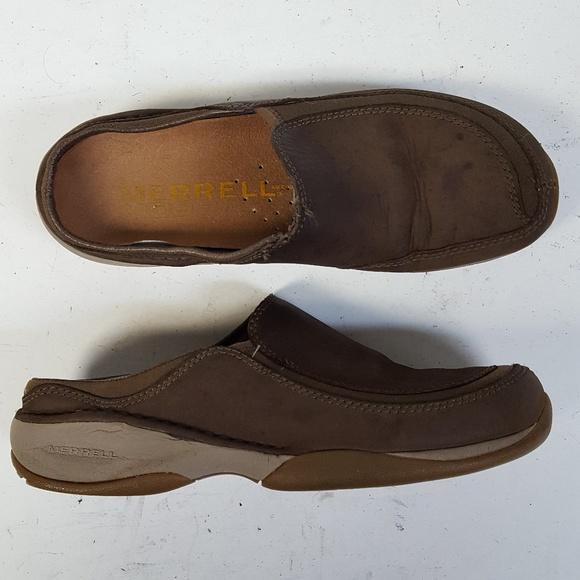 d10eed748 Merrell Moc Primo Scoop Brown Mule Slides Clogs
